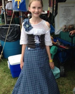 GMHG girl in tartan